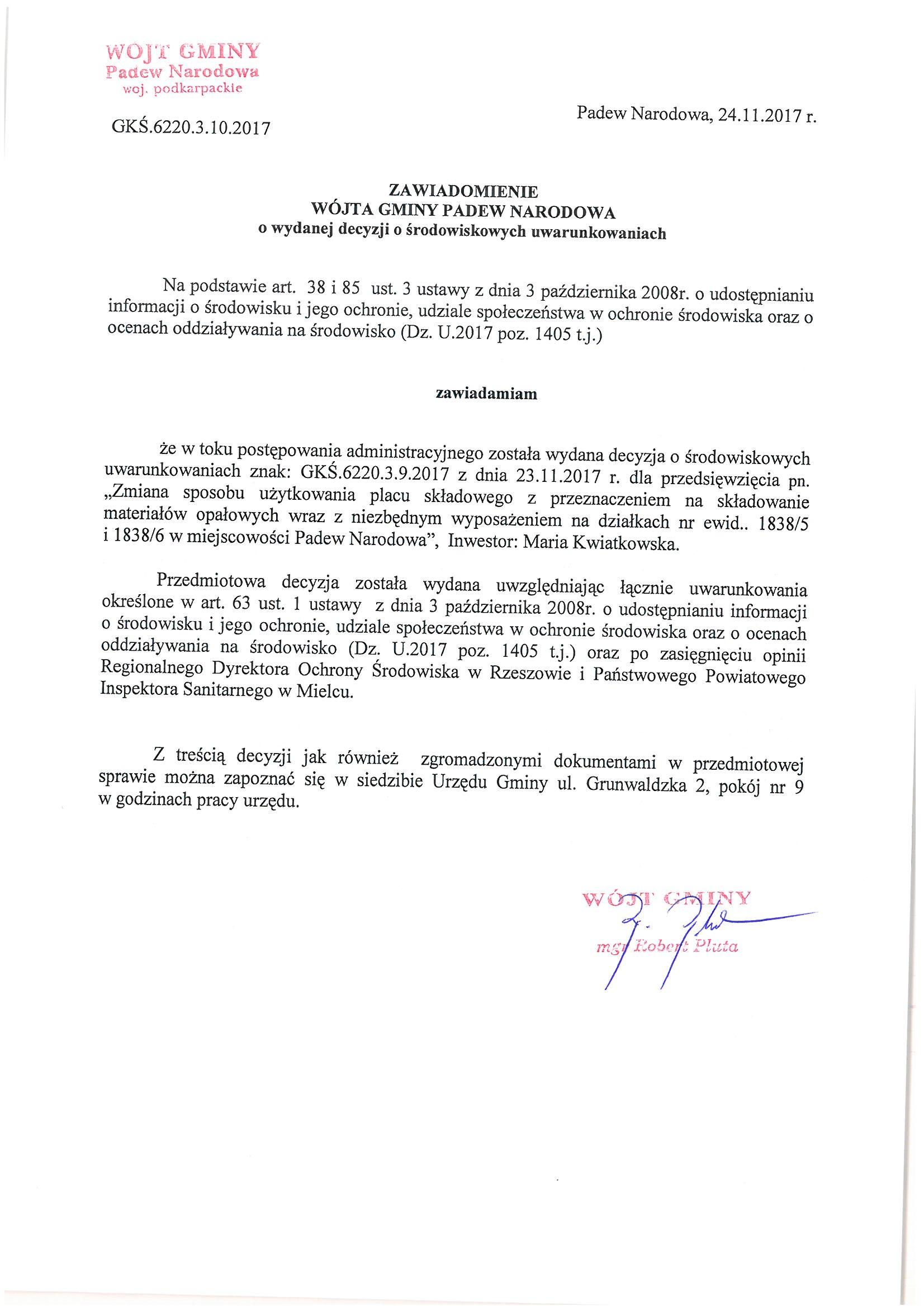 ---- zawiadomienie wójta gminy z dn. 24.11. 2017.jpg