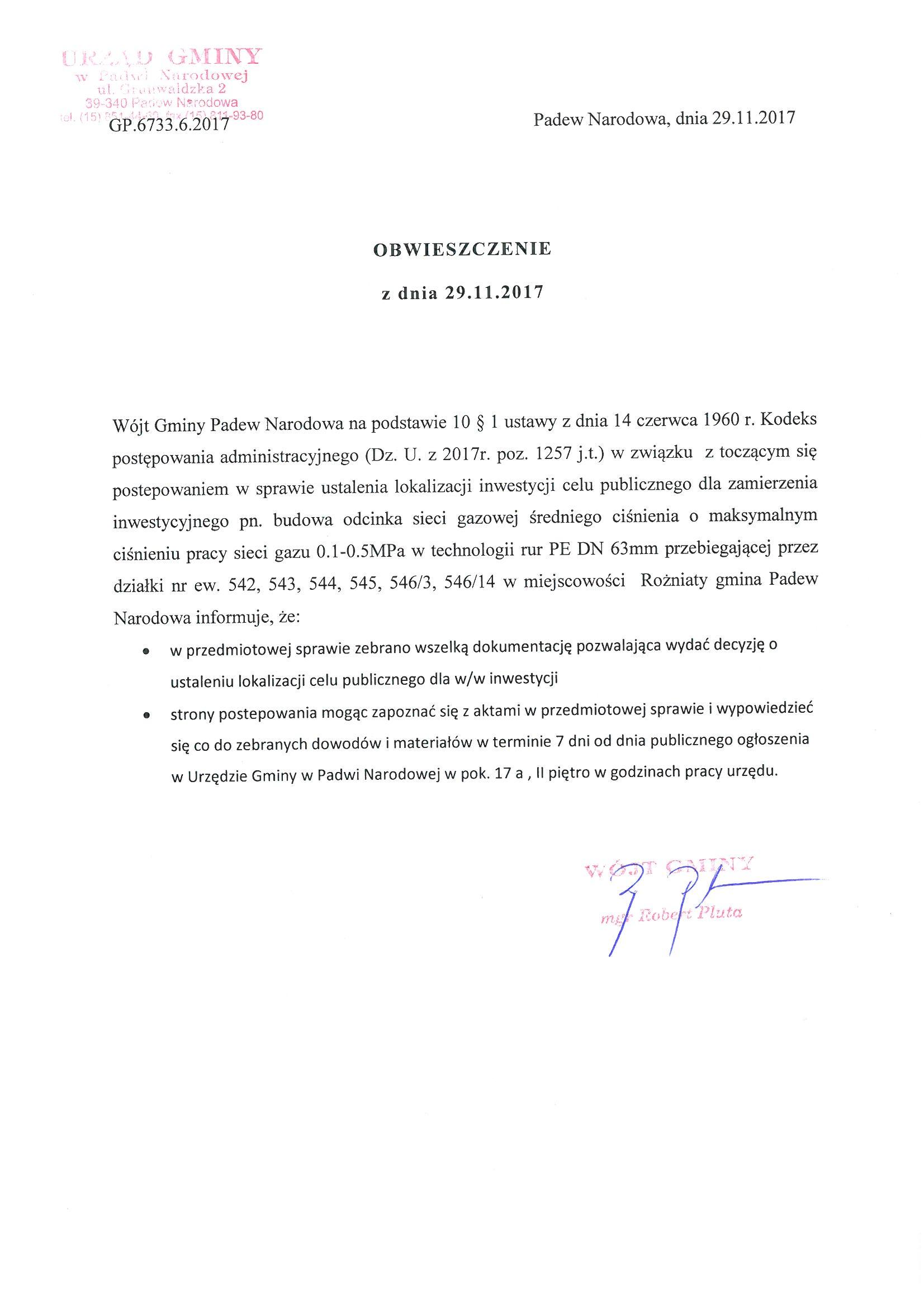 ---- Obwieszczenie Wójta z dnia 29.11. 2017 r..jpg